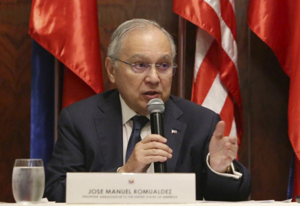 Đại sứ Philippines tại Mỹ Jose Manuel Romualdez. Ảnh:inquirer.