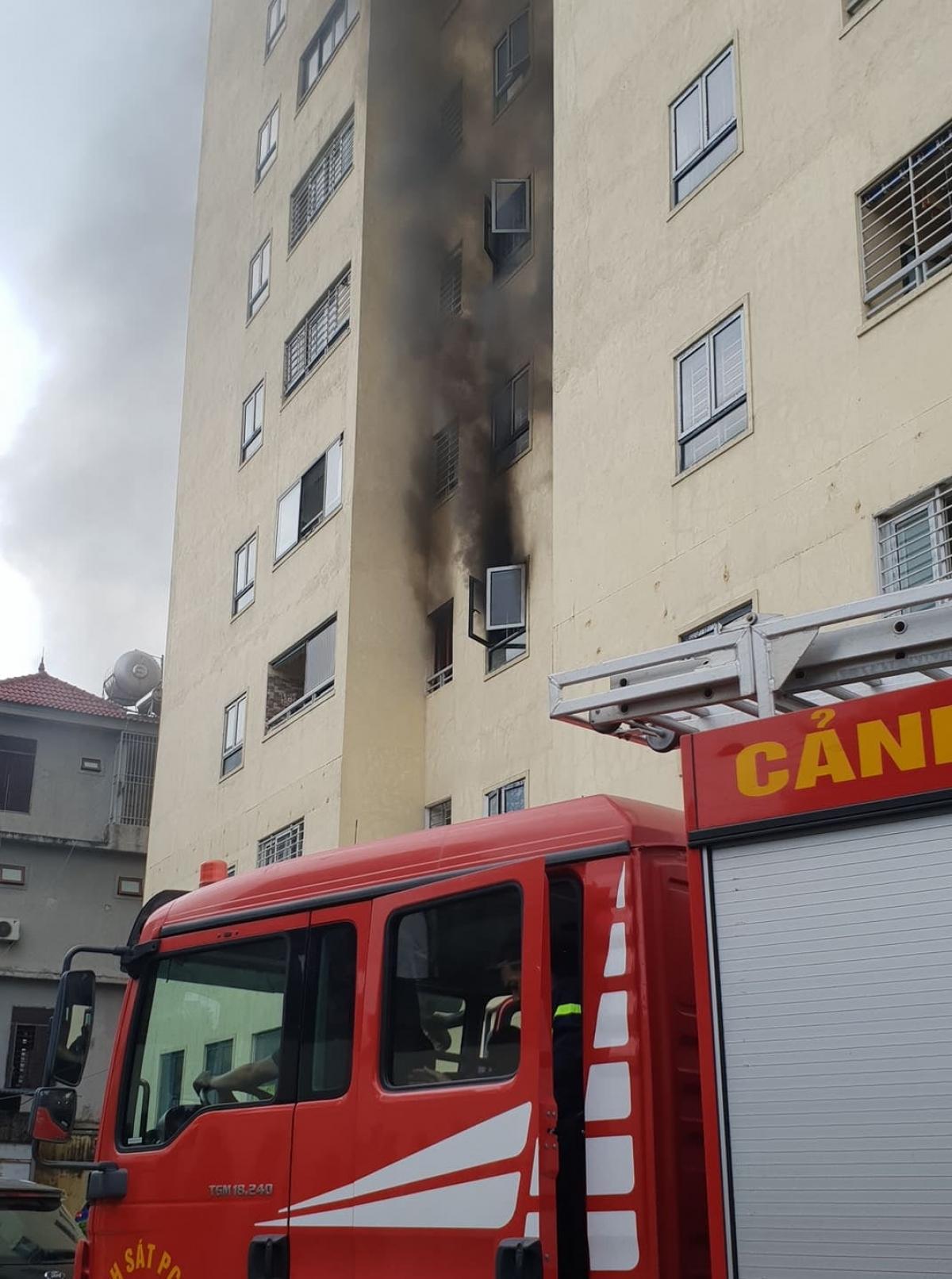 Vị trí xảy ra hỏa hoạn tại phòng ngủ thuộc tầng 3 của chung cư.