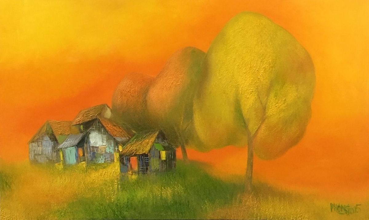 An oil painting by Dao Hai Phong
