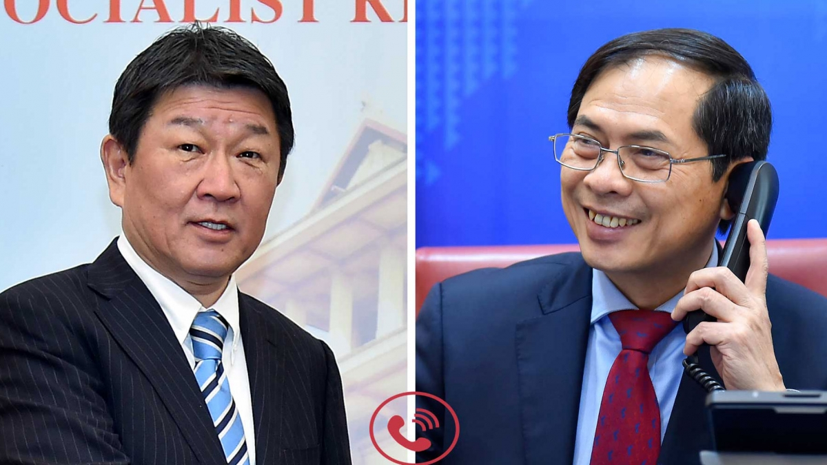 Cuộc điện đàm giữa Bộ trưởng Ngoại giao Bùi Thanh Sơn với Bộ trưởng Ngoại giaoNhật Bản Motegi Toshimitsu.