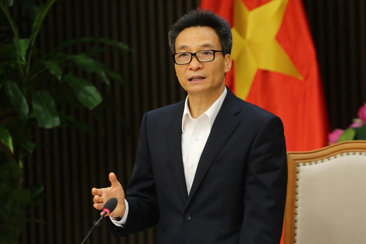Phó Thủ tướng Vũ Đức Đam phát biểu kết luận cuộc họp. Ảnh: VGP/Đình Nam.