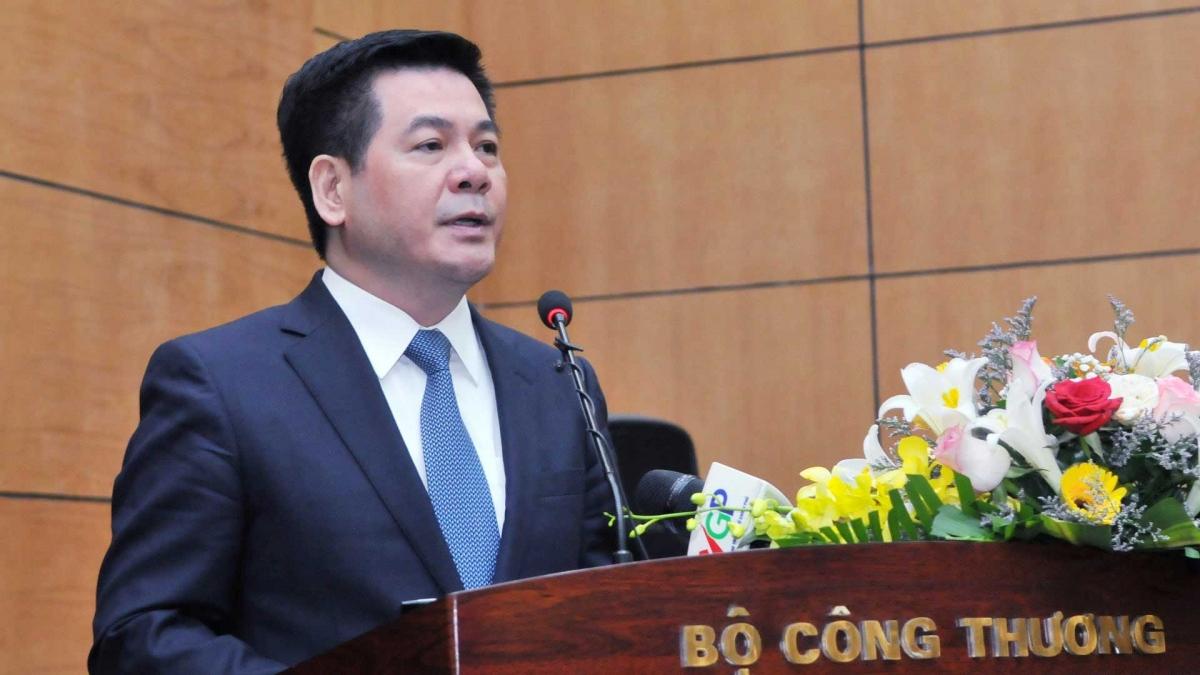 Tân Bộ trưởng Bộ Công Thương Nguyễn Hồng Diên phát biểu tại Hội nghị.