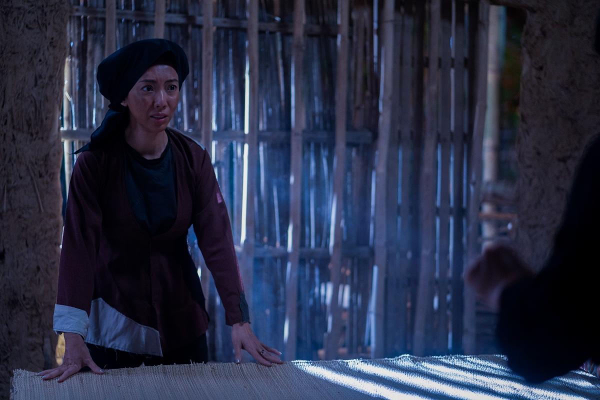 Thu Trang với hình tượng người phụ nữ nông thôn xưa.
