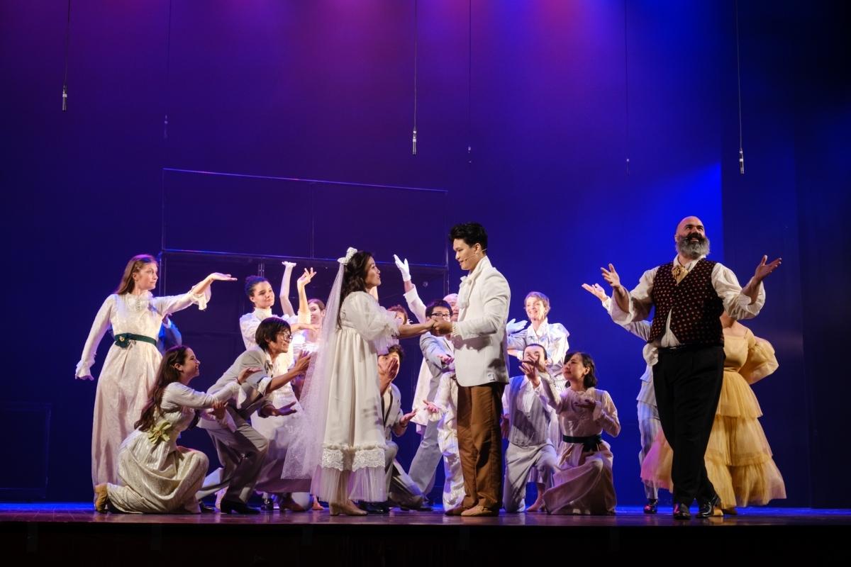 A scene of the musical'Les Misérables'