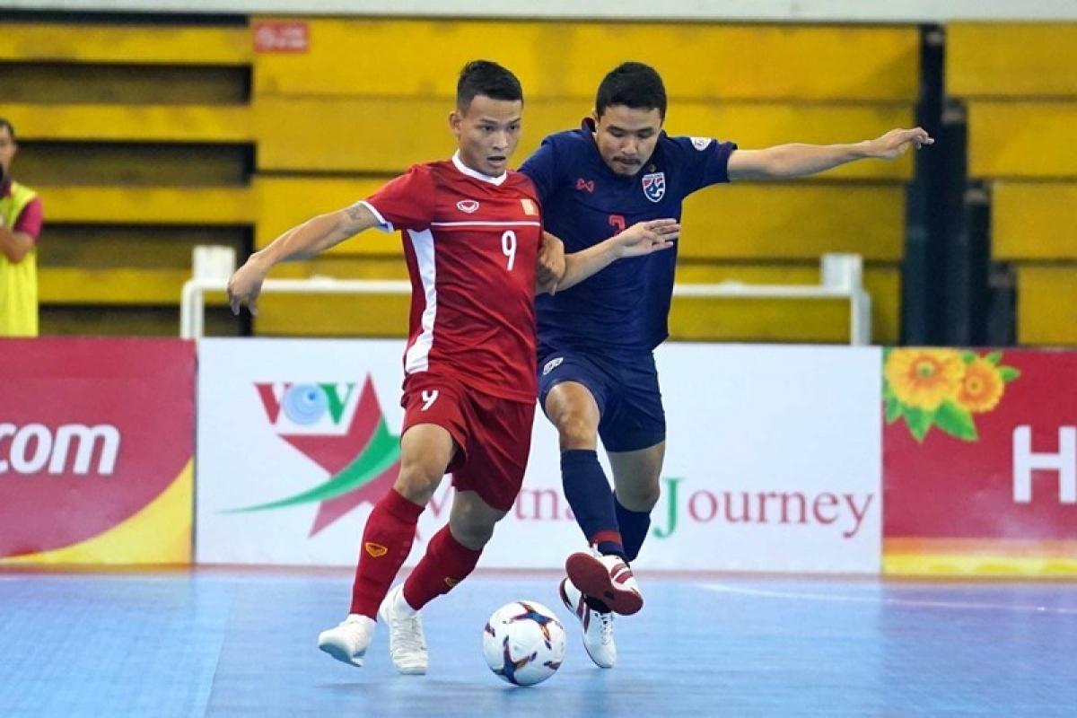 ĐT Việt Nam và ĐT Thái Lan thi đấu play-off tranh vé dự VCK FIFA Futsal World Cup 2021 (Ảnh: VFF).