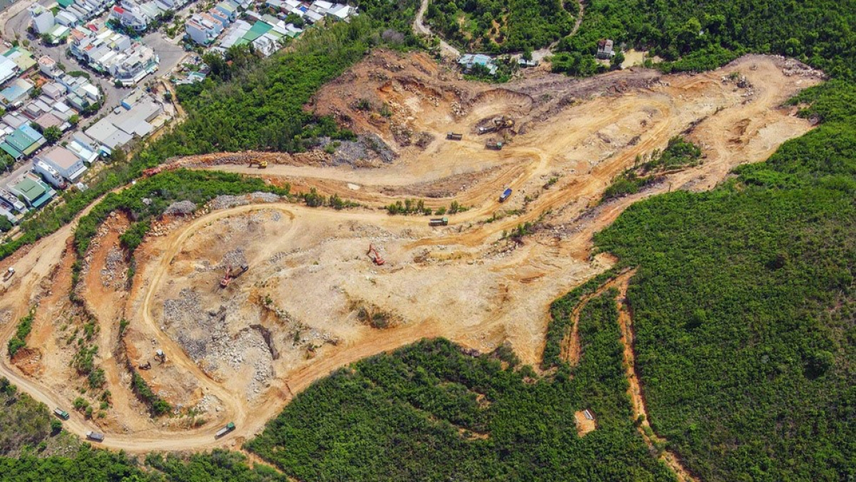 Dự án Haborizol Nha Trang được cấp phép trên sườn núi.