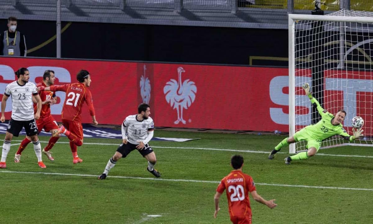 Elmas mang về chiến thắng cho Bắc Macedonia. (Ảnh: Getty)
