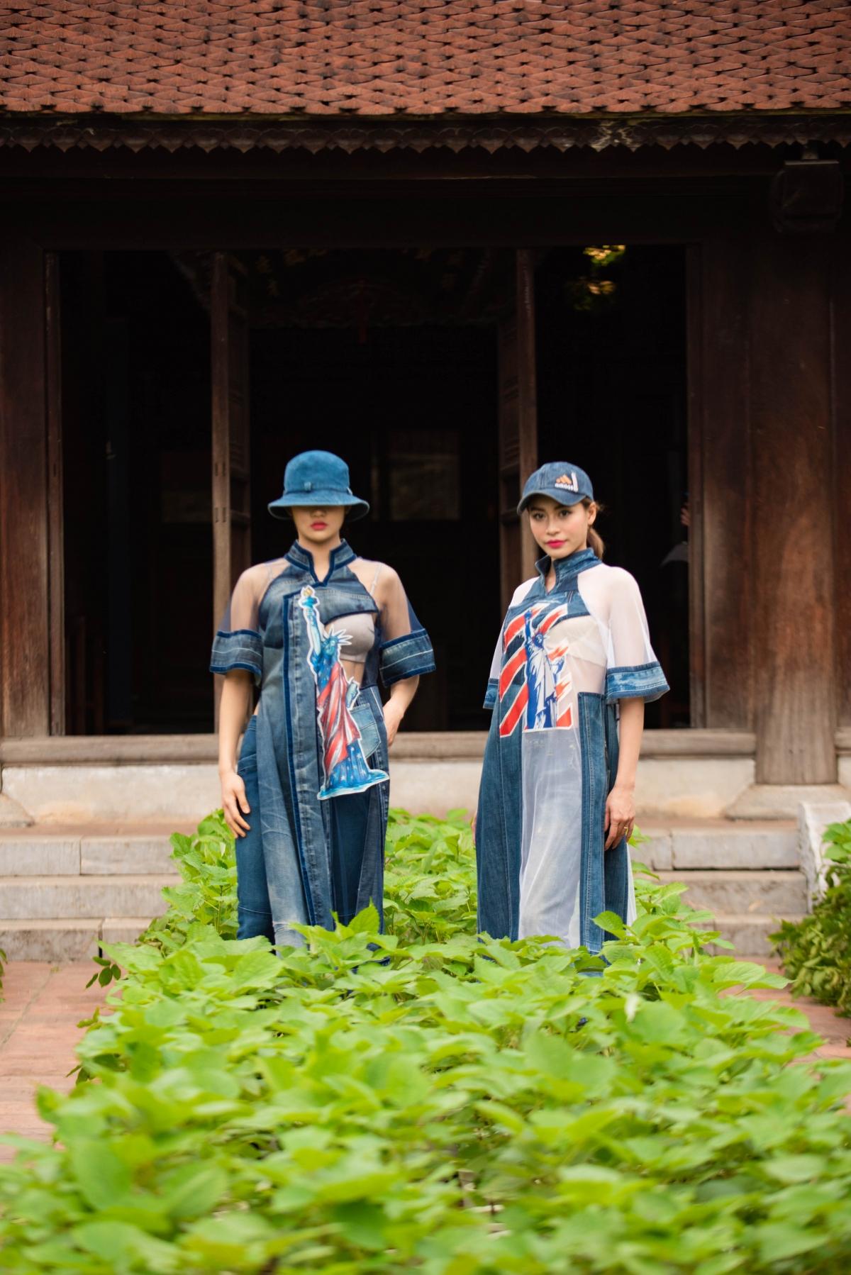Chất liệu truyền thống Việt Nam sẽ ghi thêm dấu ấn đậm nét về cội nguồn dân tộc trên chiếc áo dài.