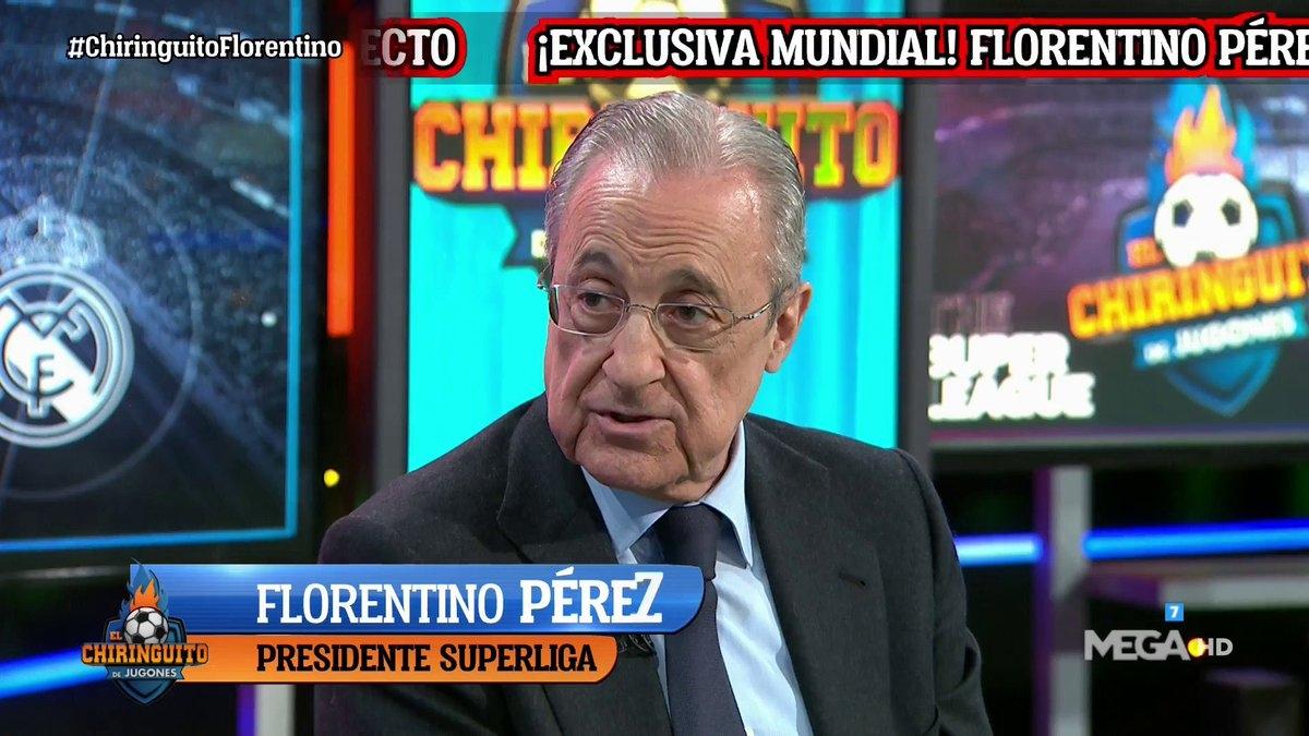 Florentino Perez trong chương trình El Chiringuito. (Ảnh: Marca)