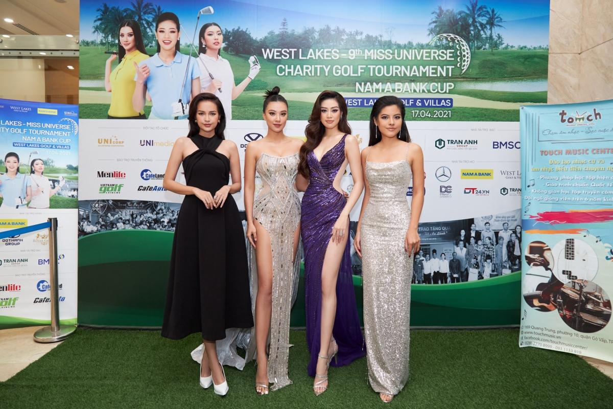 Hoa hậu Khánh Vân và dàn người đẹp tham dự sự kiện.