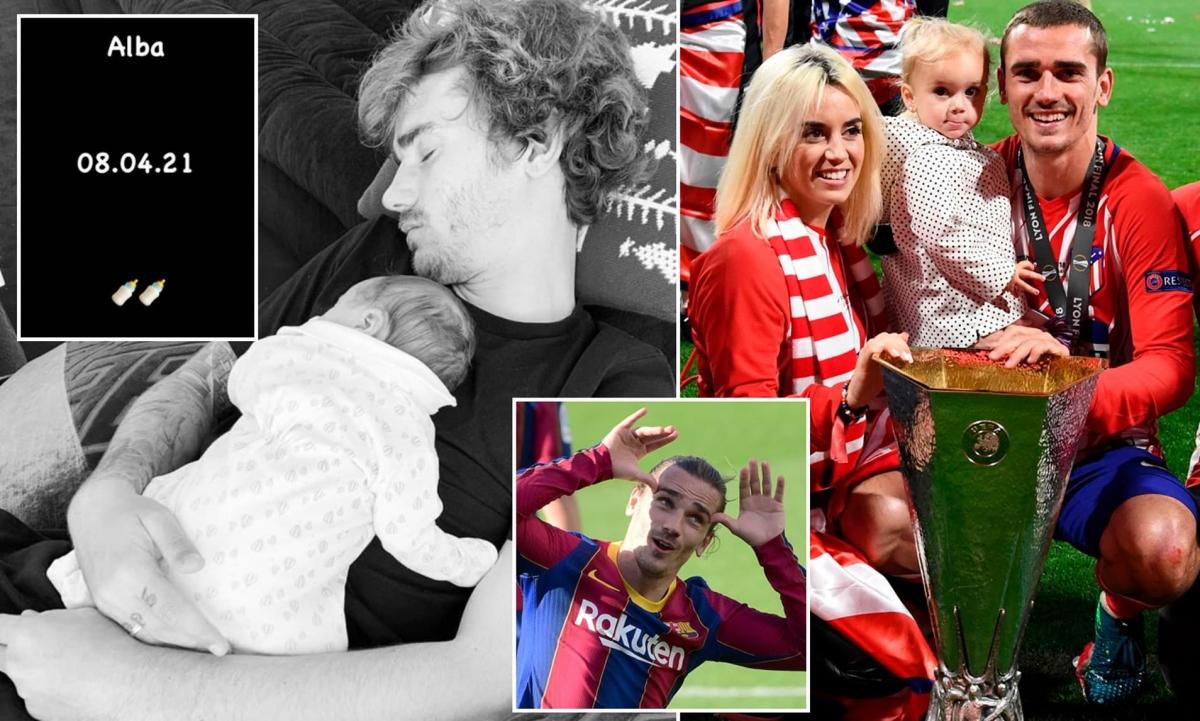 Cả 3 bé nhà Griezmann đều chào đời vào ngày 8/4. (Ảnh: Daily Mail)