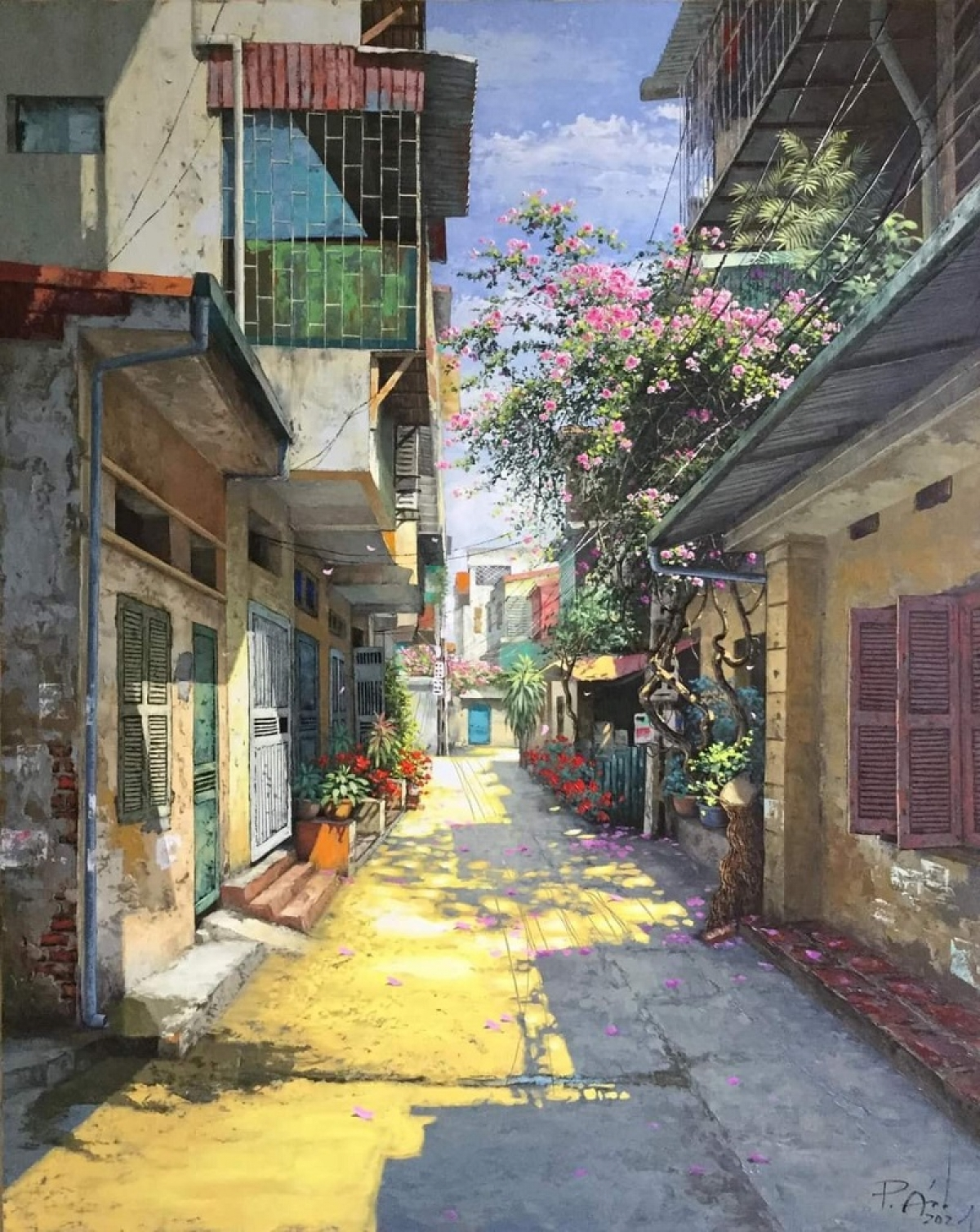 The simple alleys in Hanoi are something ordinary to many people, but they are vividly beautiful to Pham Anh.