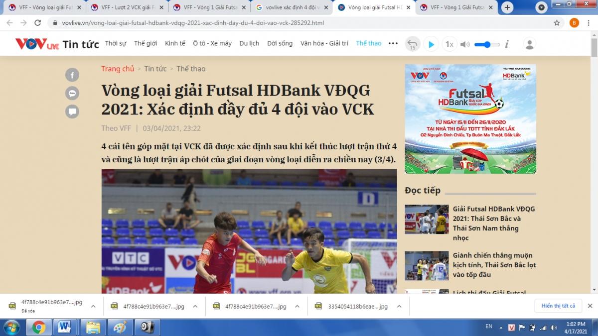 Một trong những website trực thuộc VOV.