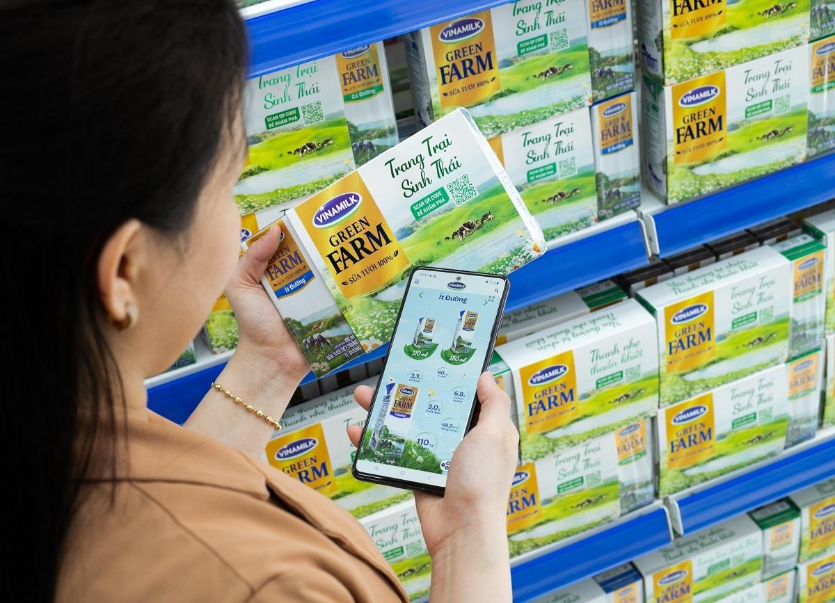 Website thương mại điện tử và ứng dụng di động được Vinamilk thúc đẩy trong các năm gần đây