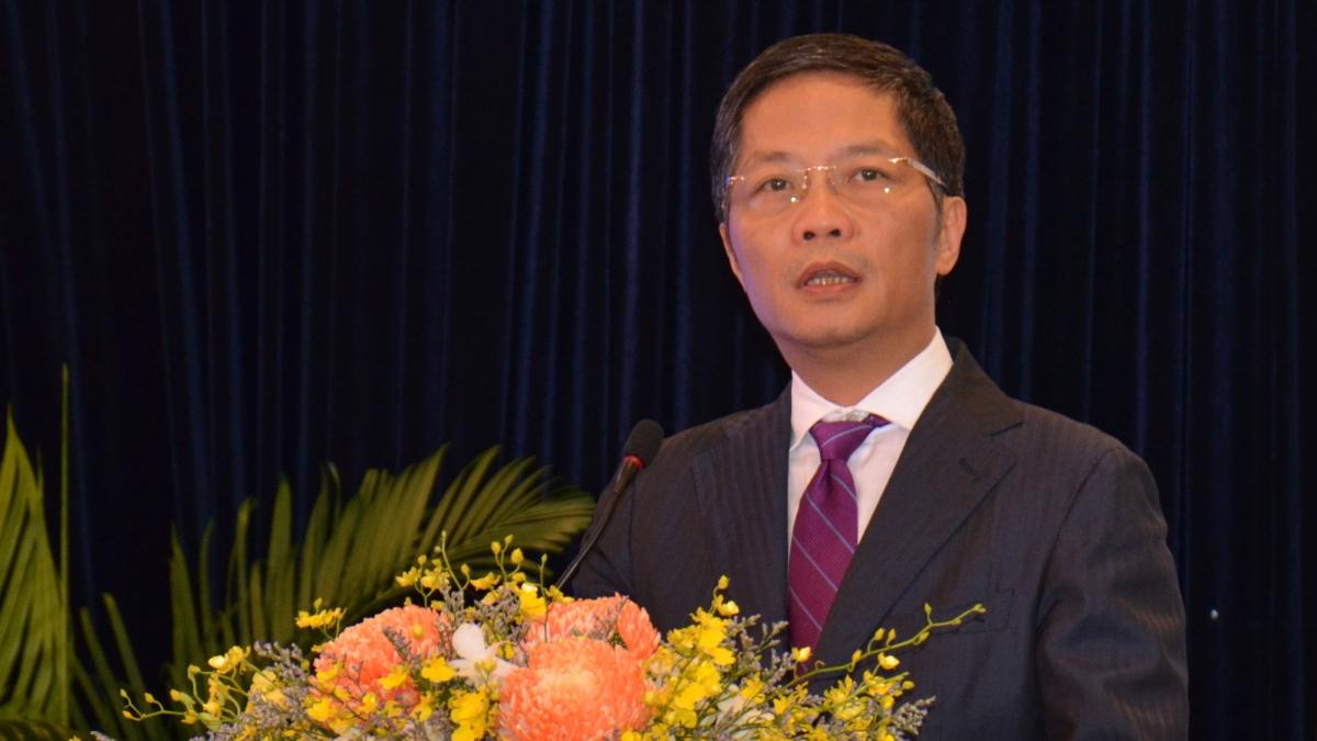 Ông Trần Tuấn Anh-Uỷ viên Bộ Chính trị- Trưởng Ban Kinh tế Trung ương phát biểu tại hội thảo.