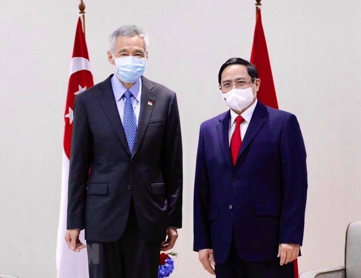 Hai Thủ tướng bày tỏ hài lòng và nhất trí tiếp tục thúc đẩy quan hệ hợp tác tốt đẹp giữa hai nước tại các diễn đàn khu vực và quốc tế.