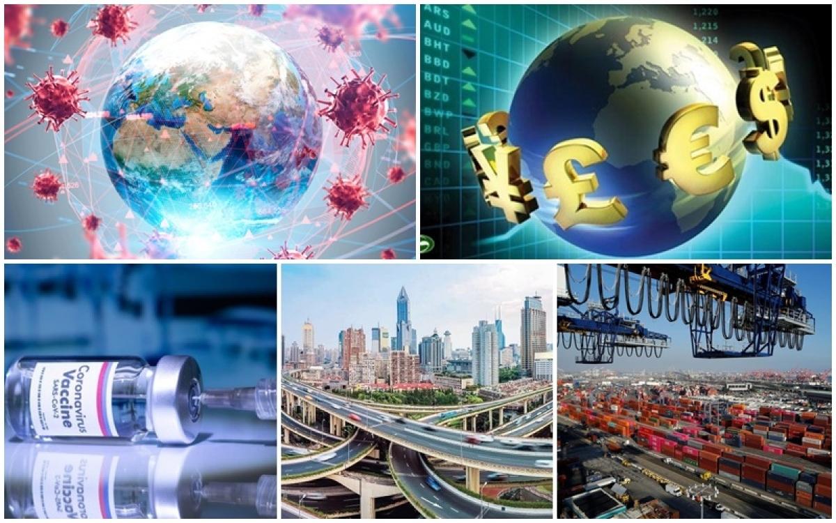 """Kinh tế thế giới dần thoát khỏi """"bóng đen"""" Covid-19. (Ảnh minh họa: KT)"""