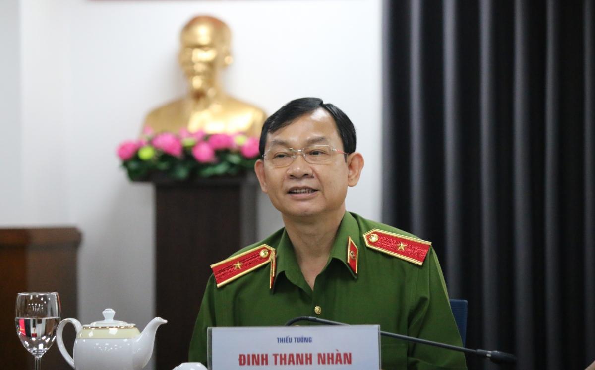 Thiếu tướng Đinh Thanh Nhàn, Phó Giám đốc Công an TPHCM kêu gọi các đối tượng chặn cao tốc TPHCM - Long Thành - Dầu Giây để đua xe vào tối 19/3 nhanh chóng ra trình diện.