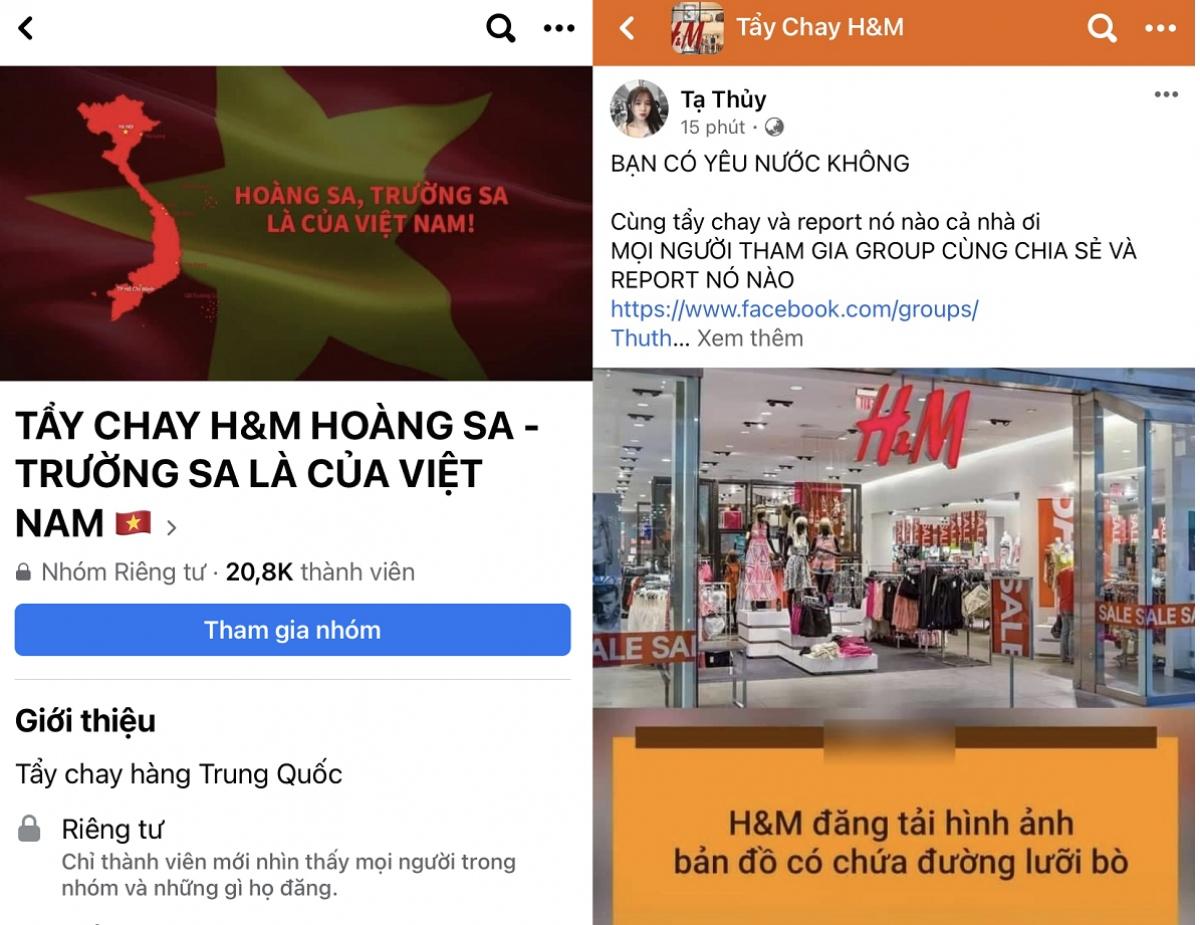 Các group tẩy chay H&M cũng nhanh chóng được lập và thu hút sự tham gia của hàng chục nghìn thành viên