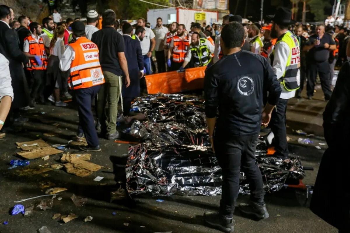 Thảm hoạn lớn trong lễ hội tôn giáo tại Israel. Ảnh: I24news,