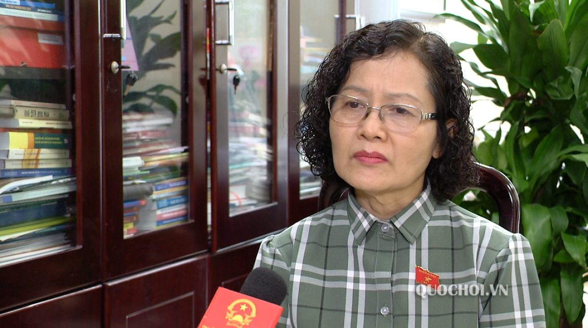 Đại biểu Trần Thị Quốc Khánh, đoàn Hà Nội.