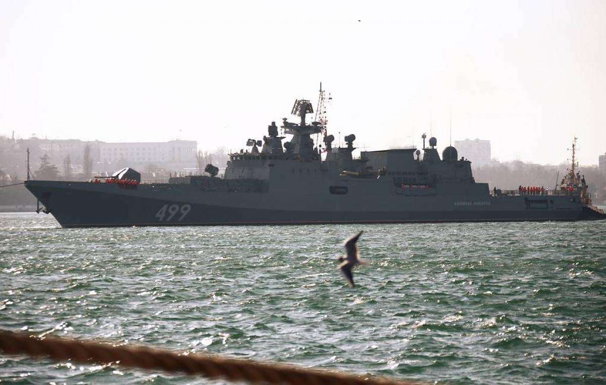 Tàu hộ vệ Đô đốc Makarov. Ảnh: TASS