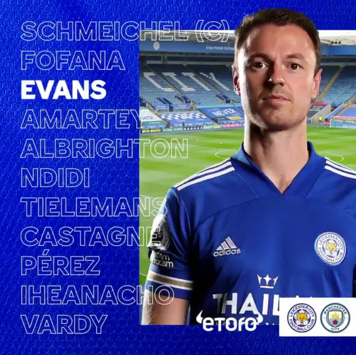 Đội hình của Leicester City.