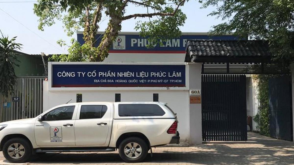 Lực lượng chức năng khám xét trụ sở của công ty Phúc Lâm (Ảnh: Công an Đồng Nai)