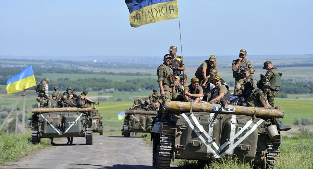 Lực lượng vũ trang Ukraine ở khu vực Donbass năm 2015. Ảnh: Reuters