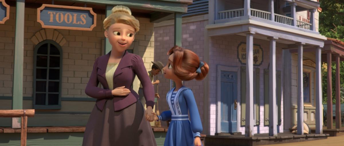 Lucky trò chuyện cùng dì Cora.