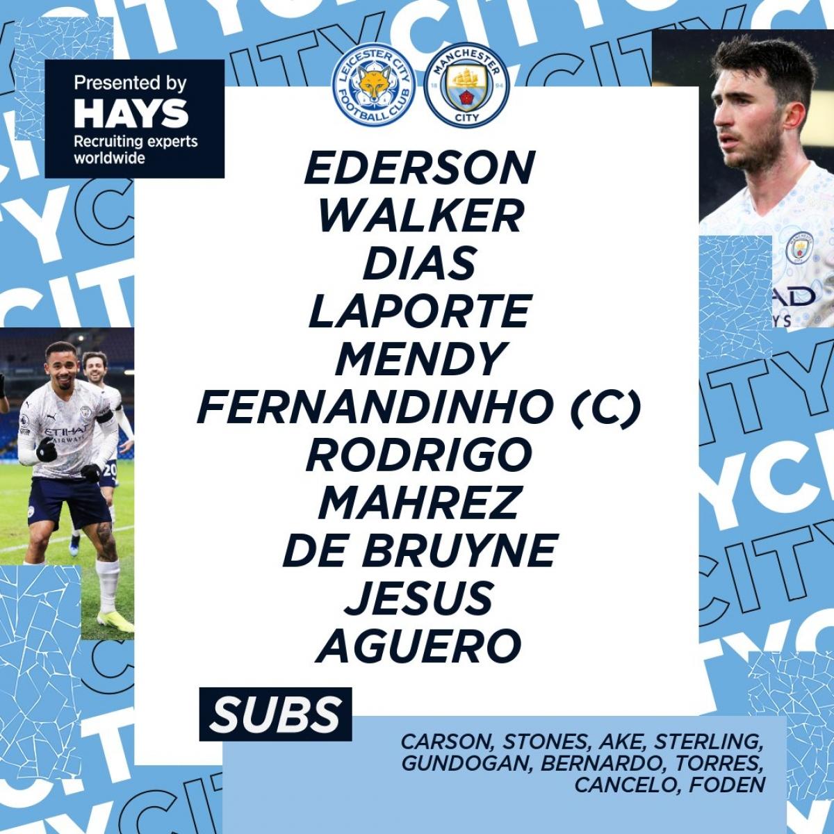 Đội hình của Man City.