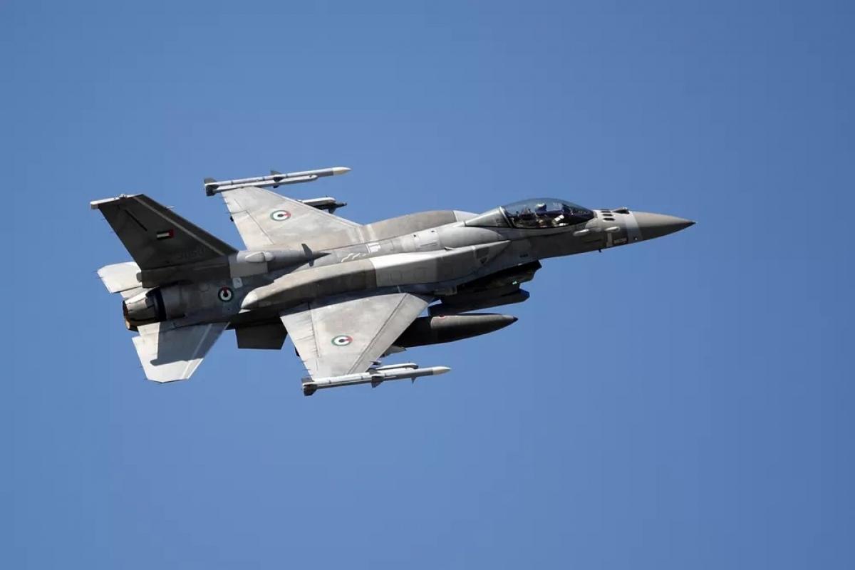 Máy bay UAE tham gia tập trận trên không cùng Israel và Hy Lạp. Ảnh: I24news