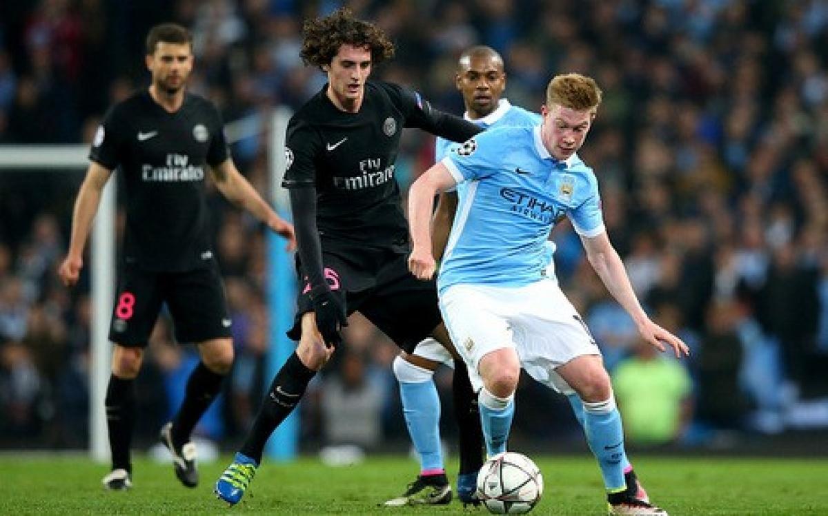 De Bruyne ghi bàn duy nhất giúp Man City vào bán kết Champions League ngày này 5 năm trước. (Ảnh: Getty).