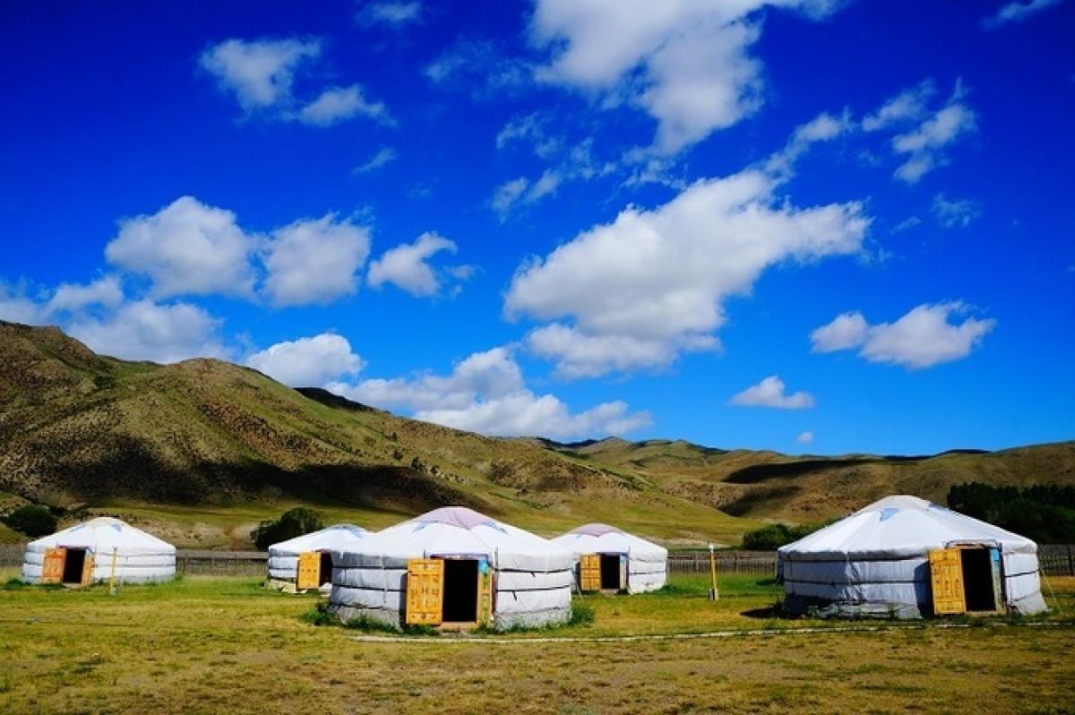 Nhà lều truyền thống của người Mông Cổ ở vườn quốc gia Orkhon. Ảnh:Shutterstock