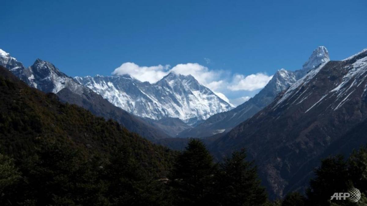Đỉnh núi cao nhất thế giới Everest. Ảnh: AFP
