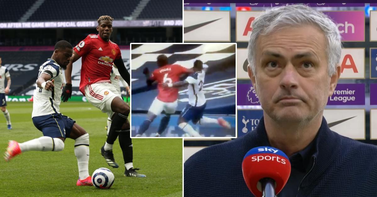 Jose Mourinho đòi trọng tài rút thẻ đỏ với Paul Pogba. (Ảnh: Tribuna)