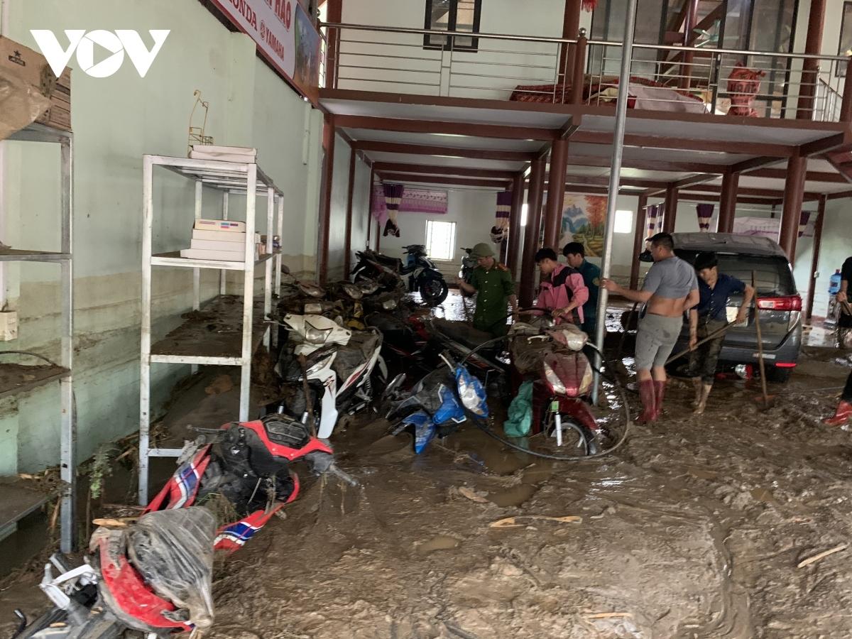 Huyện Văn Bàn (Lào Cai) khẩn trương khắc phục hậu quả trận lũ ống