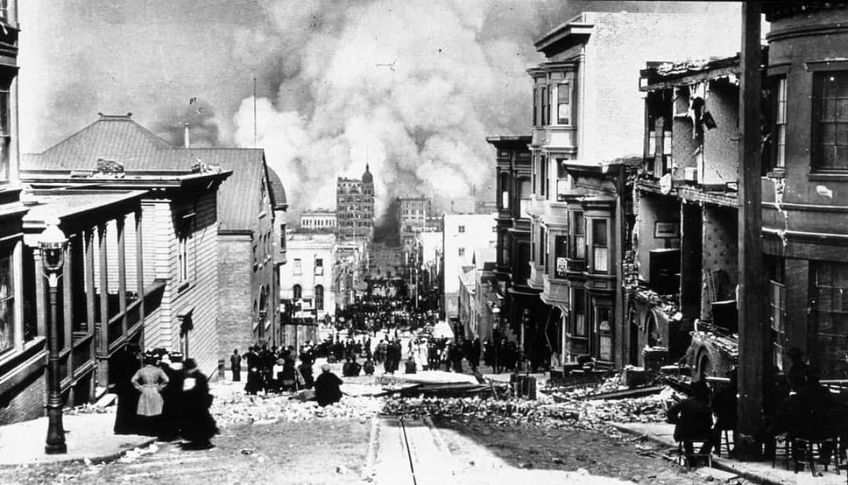 Trận động đất và hỏa hoạn ở San Francisco (ngày 18/4/1906).Trận động đất 8 độ richter xảy ra ở California vào tháng 4 đã dẫn đến hỏa hoạn kéo dài nhiều ngày.Thảm họa đã khiến hơn 3.000 người thiệt mạng và phá hủy 80% diện tích San Francisco. Đây được xem là một trong những trận động đất nghiêm trọng nhất trong lịch sử nước Mỹ.