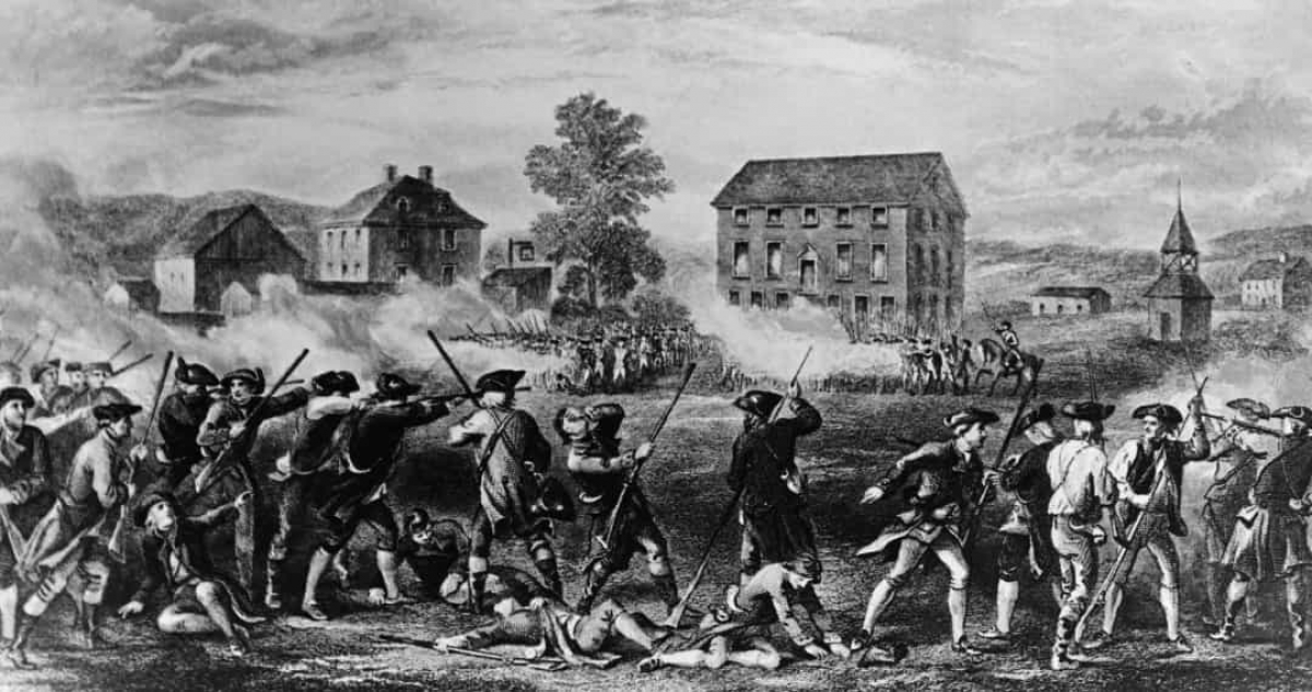 Cách mạng Mỹ (ngày 19/4/1775).Căng thẳng đã leo thang trong một thập kỷ trước khi bắt đầu trận chiến vào ngày 19/4/1775, khi quân đội Anh đánh chiếm và phá hủy các nguồn cung cấp quân sự tại Lexington và Concord.