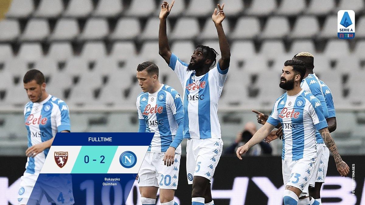 Napoli hạ đẹp Torino. (Ảnh: Serie A)