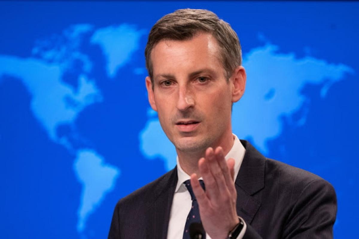 Người phát ngôn Bộ Ngoại giao Mỹ Ned Price. Ảnh: AP