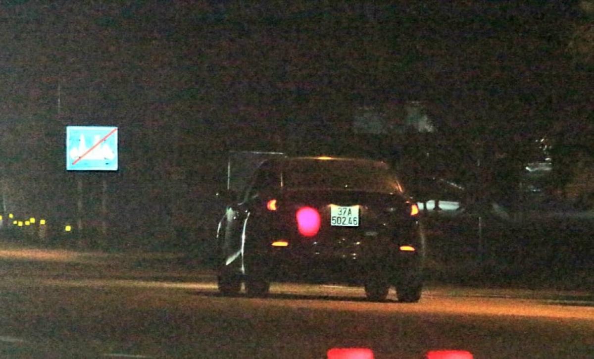 Hình ảnh chiếc xe ô tô thời điểm bị bắn tốc độ.