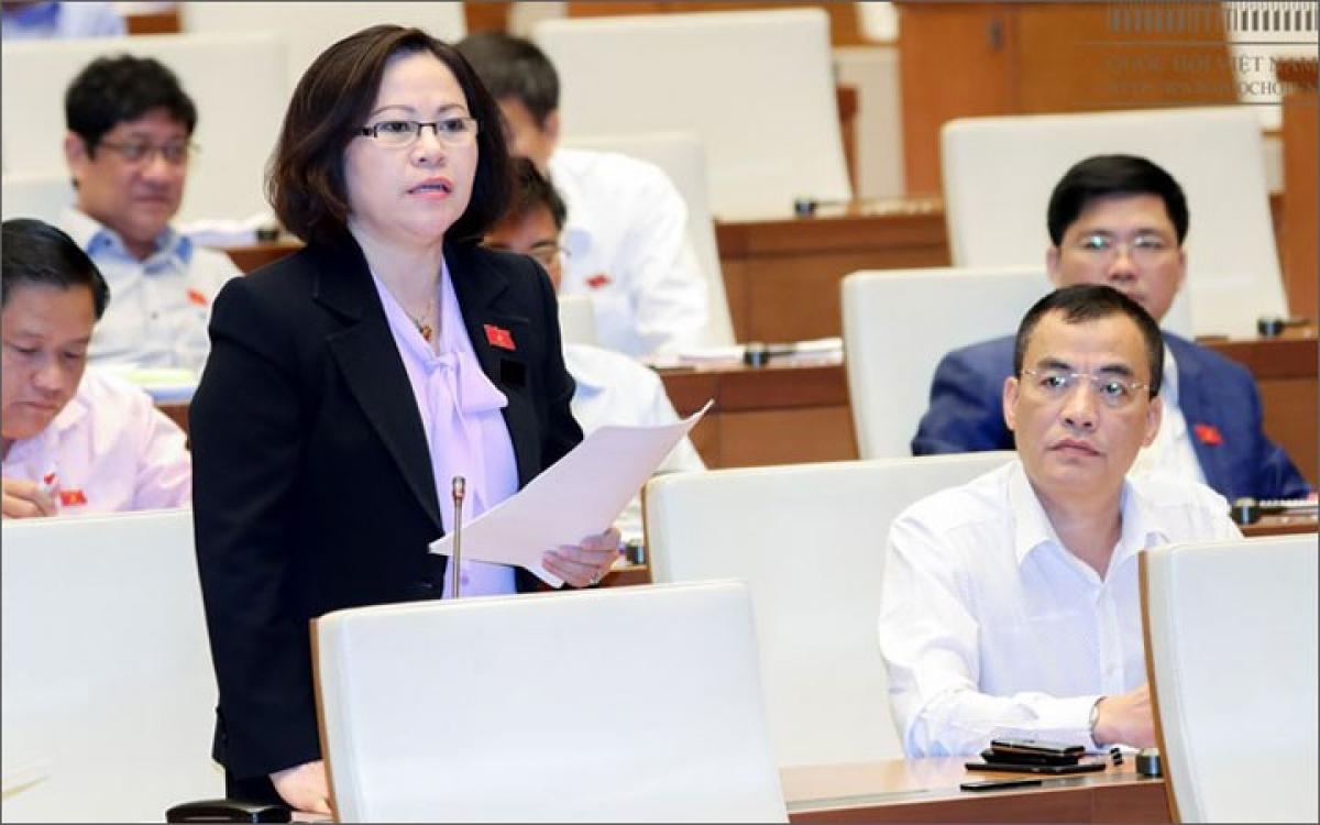 Đại biểu Ngô Thị Minh (đoàn Quảng Ninh)- Ảnh: Cổng TTĐT Quốc hội.