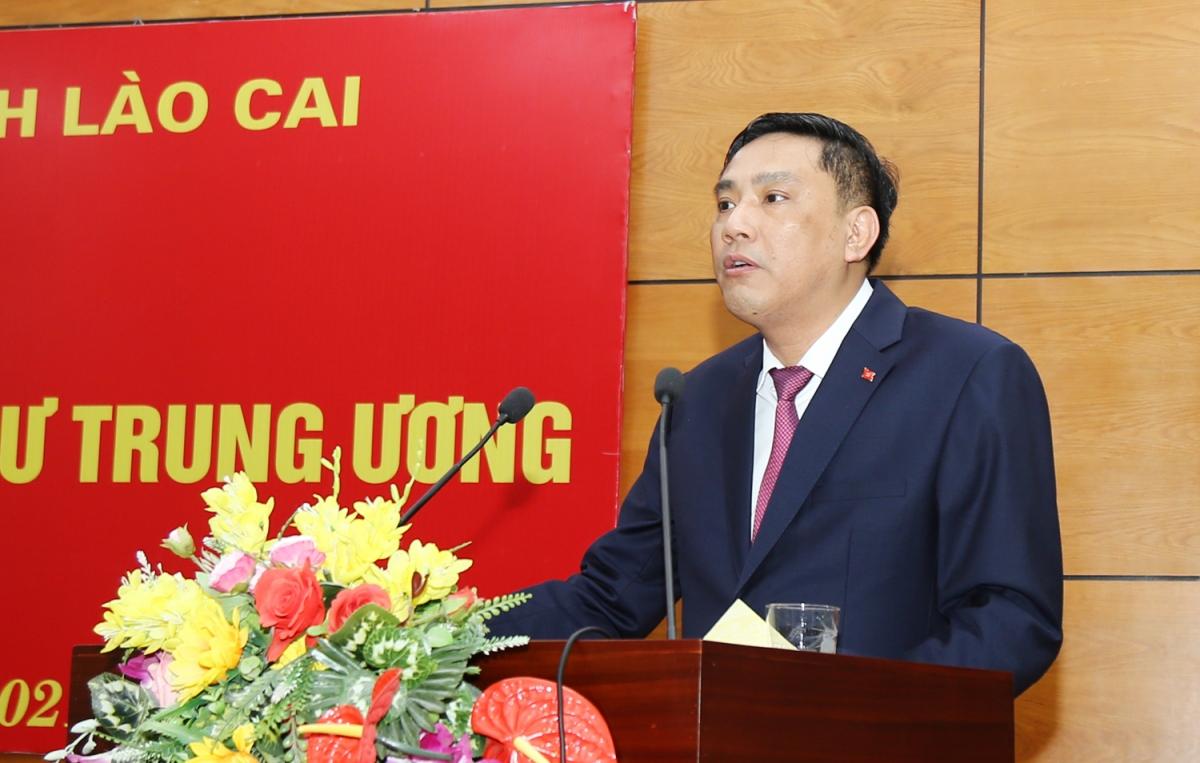 Ông Hoàng Giang phát biểu tại Hội nghị (ảnh: Báo Lào Cai)