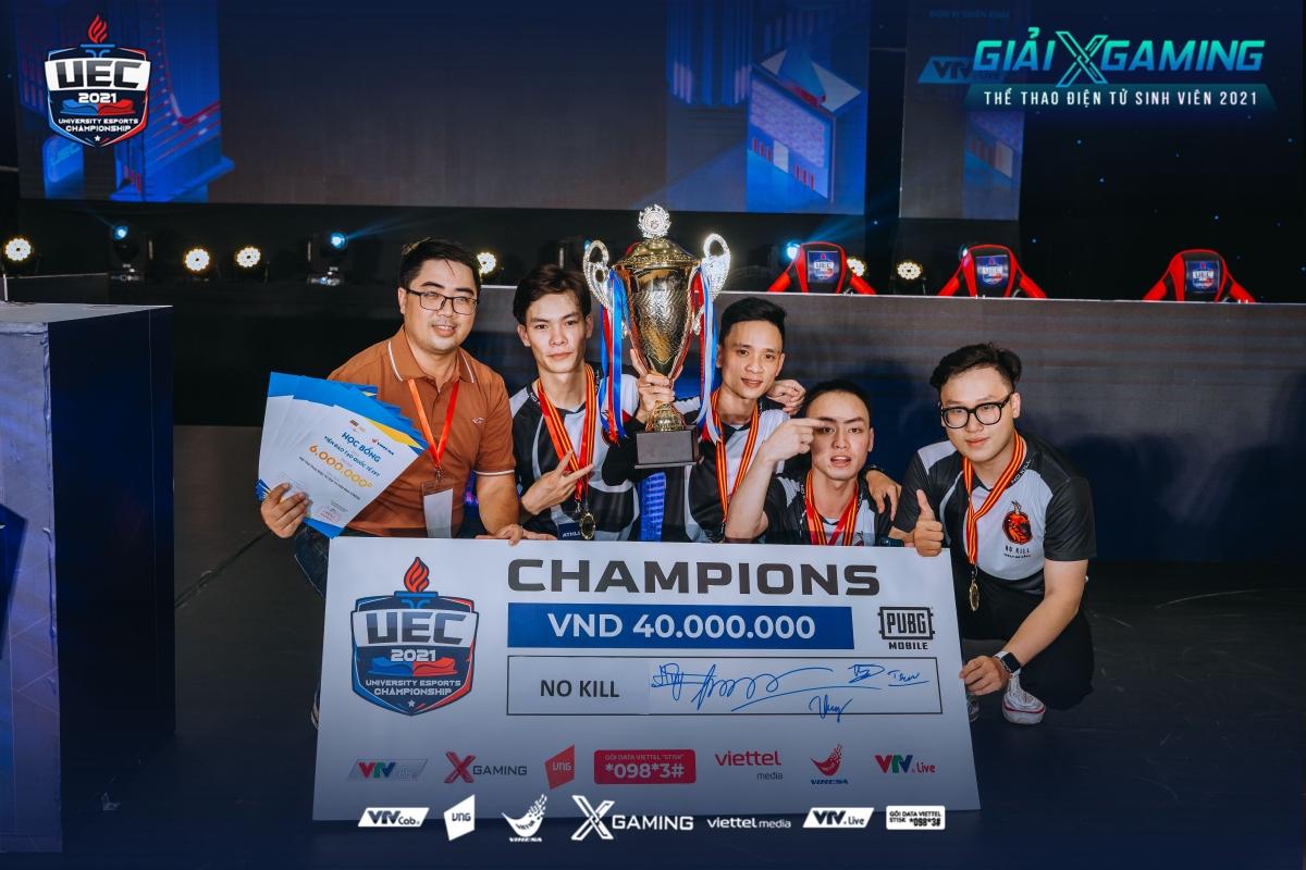 No Kill (Cao đẳng FPT Polytechnic Đà Nẵng) vô địchnội dung PUBG Mobile