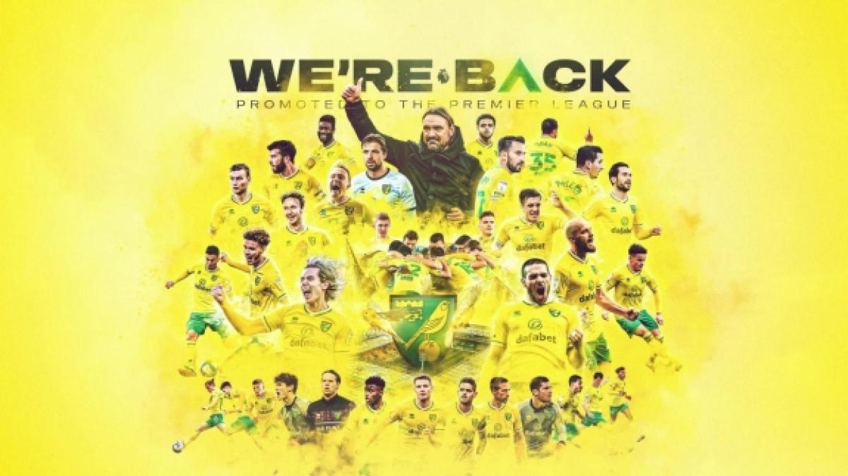 Norwich City trở lại Ngoại hạng Anh chỉ sau 1 mùa. (Ảnh: Norwich City).