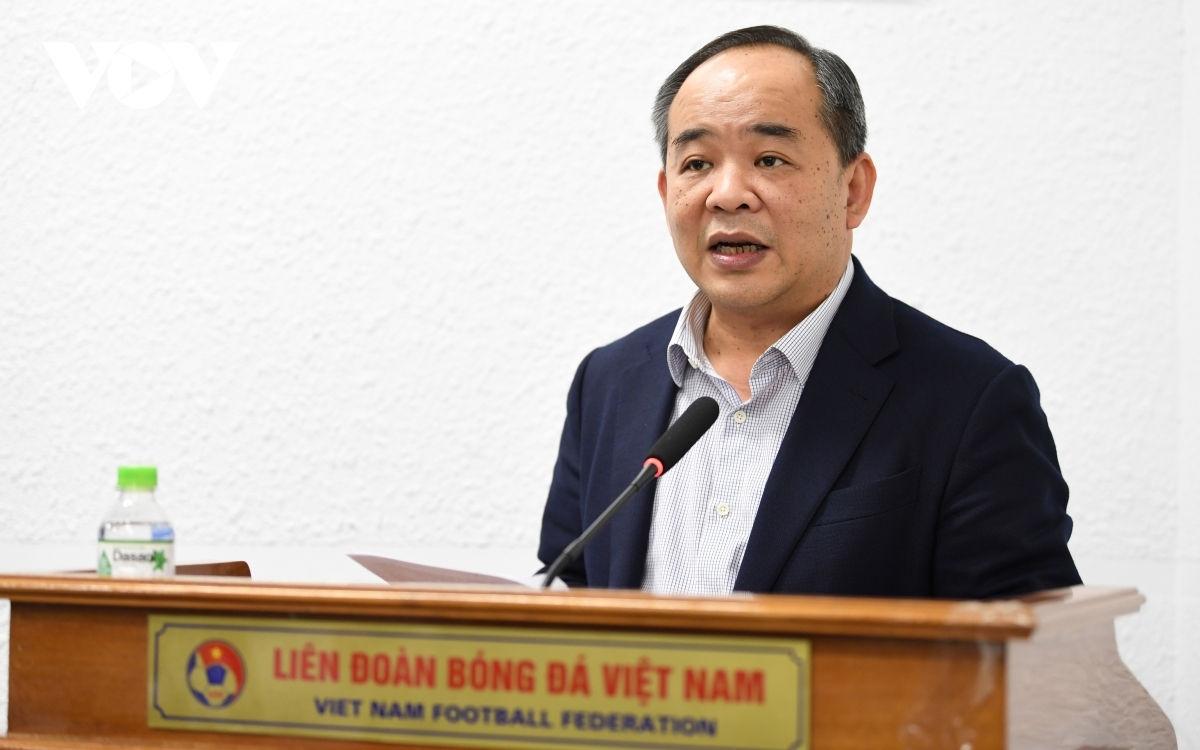 Ông Lê Khánh Hải -Chủ nhiệm Văn phòng Chủ tịch nước; Chủ tịch VFF (Ảnh: Dương Thuật).