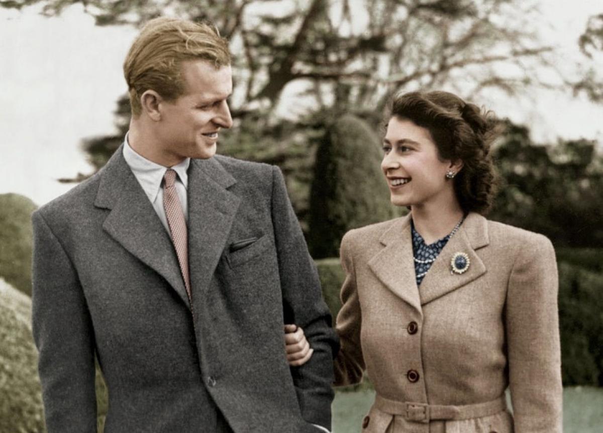 Hoàng thân và Nữ hoàng khi còn trẻ. Ảnh tư liệu