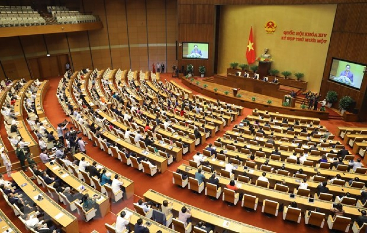 Newly-elected Prime Minister Pham Minh Chinh makes inauguration speech