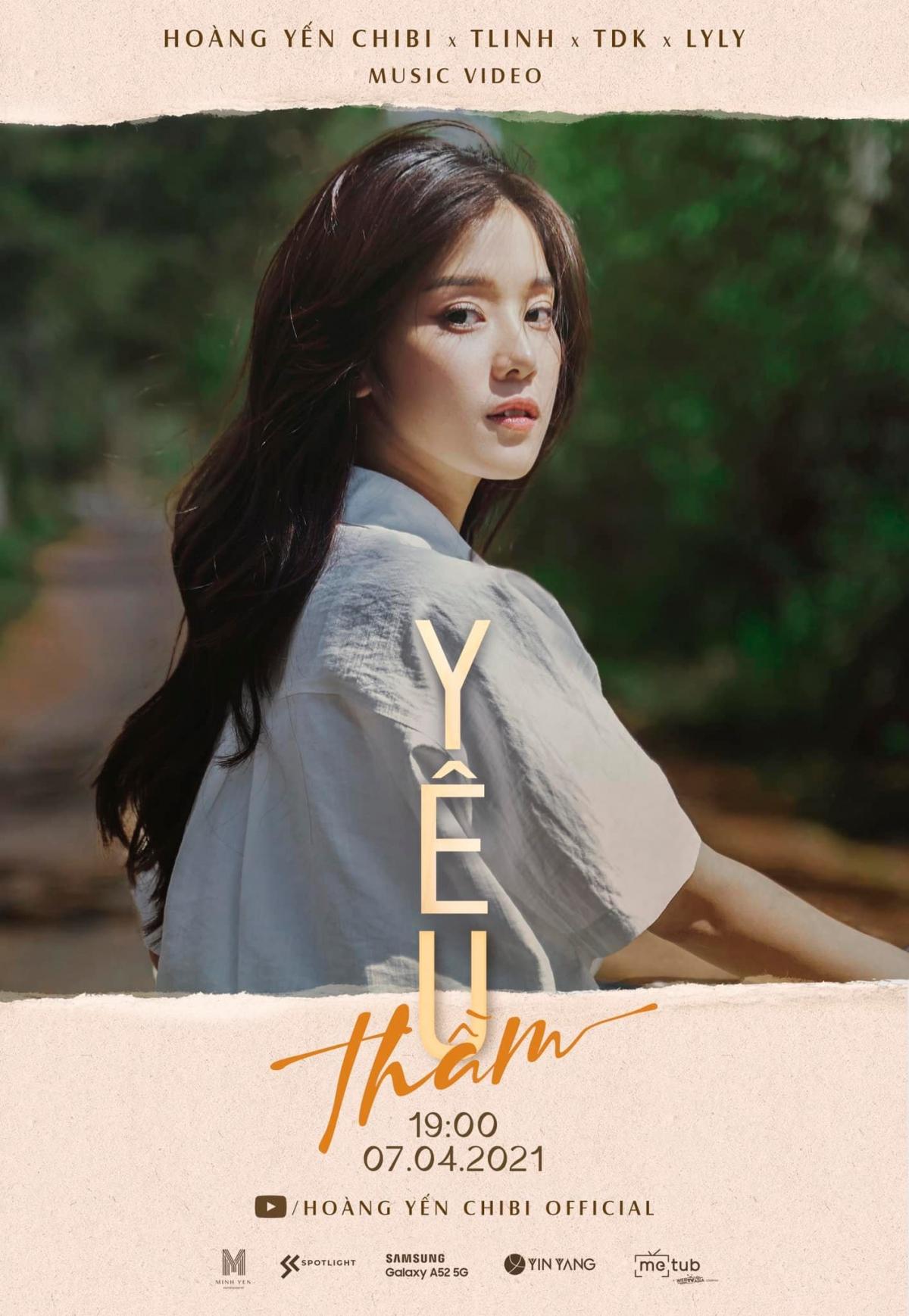 """Hoàng Yến Chibi trở lại đường đua âm nhạc với ca khúc mới """"Yêu thầm""""."""